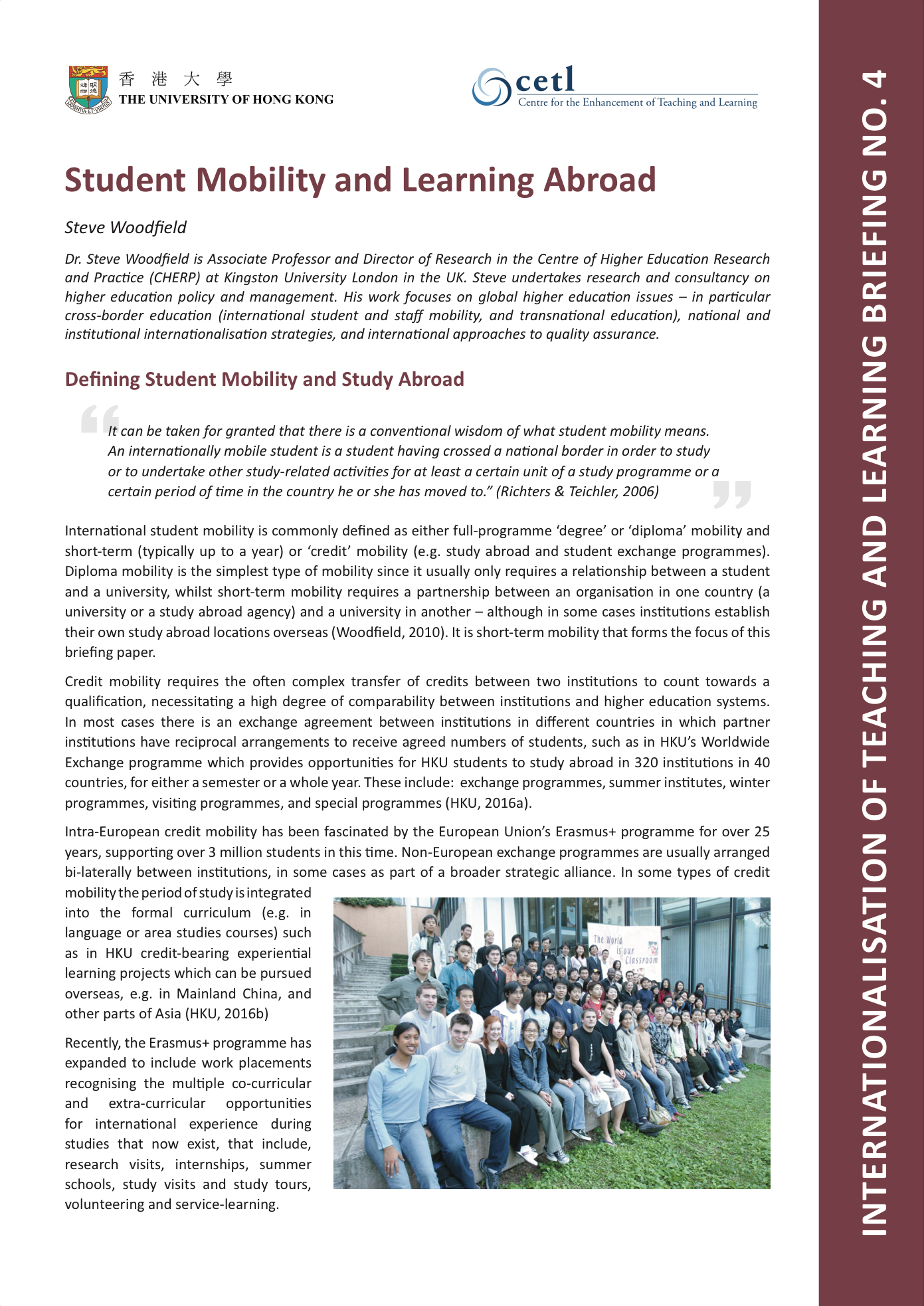4. Student Mobility and Learning Abroad
