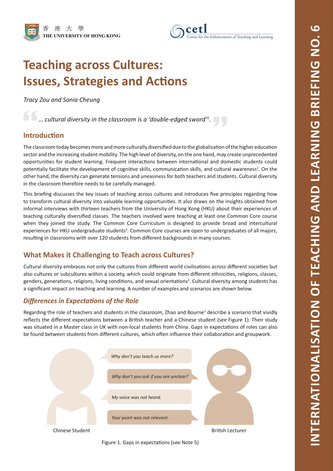 6. Teaching across Cultures: Issues, Strategies and Actions