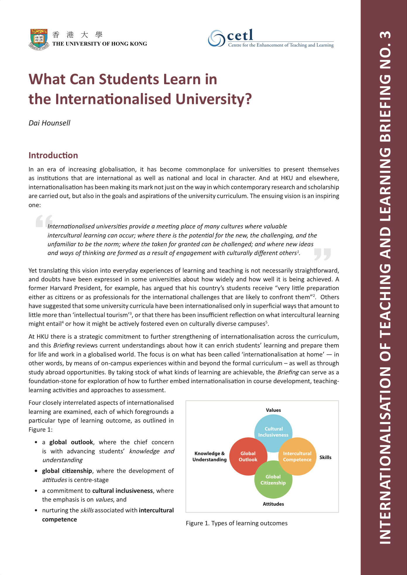 3. What Can Students Learn in the Internationalised University?