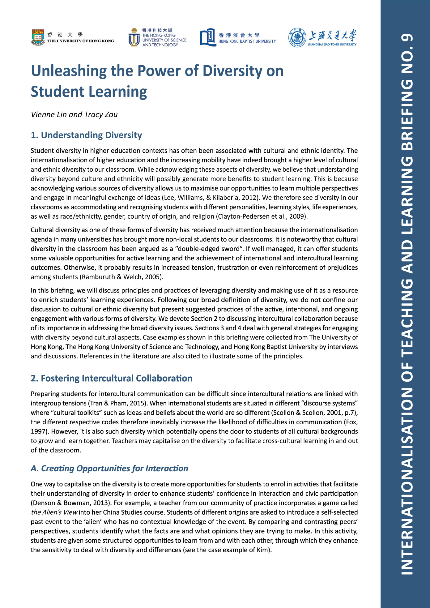 9. Unleashing the Power of Diversity on Student Learning