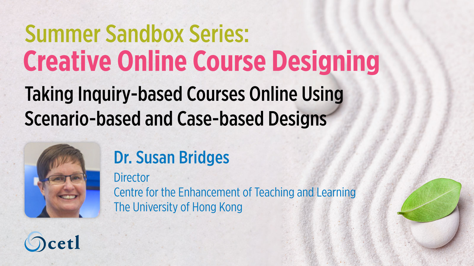 Taking Inquiry-based Courses Online Using Scenario-based and Case-based Designs