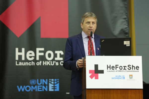 Vice-Chancellor Peter Mathieson promotes HeForShe.