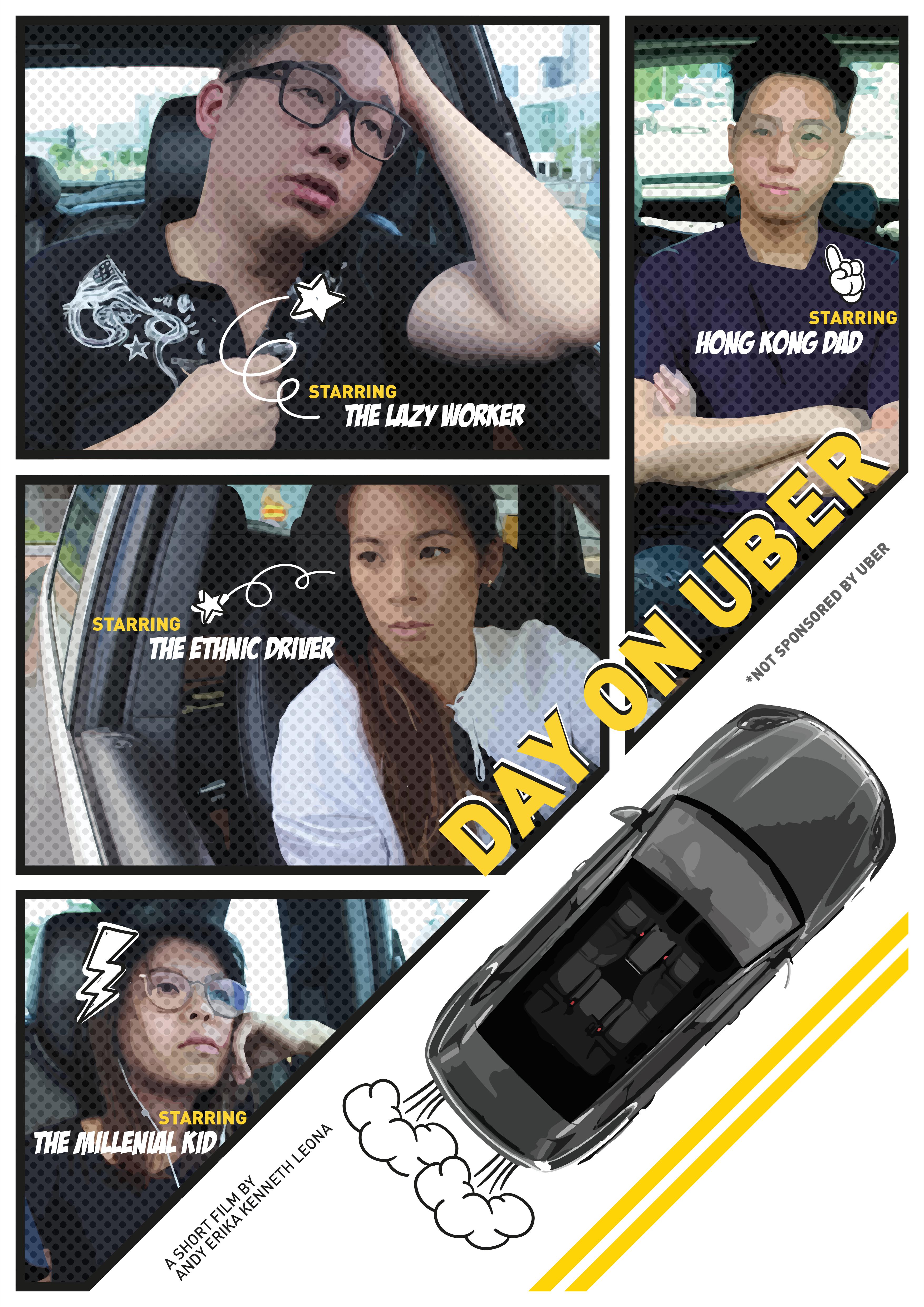 'Day On Uber' by Chak Leona Ka Yan; Fung Tsz Yan; Lam Yun Him; Yip Tsun Yin, 2019.