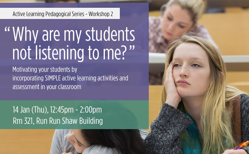 active learning pedagogical series workshop 2 why are my students